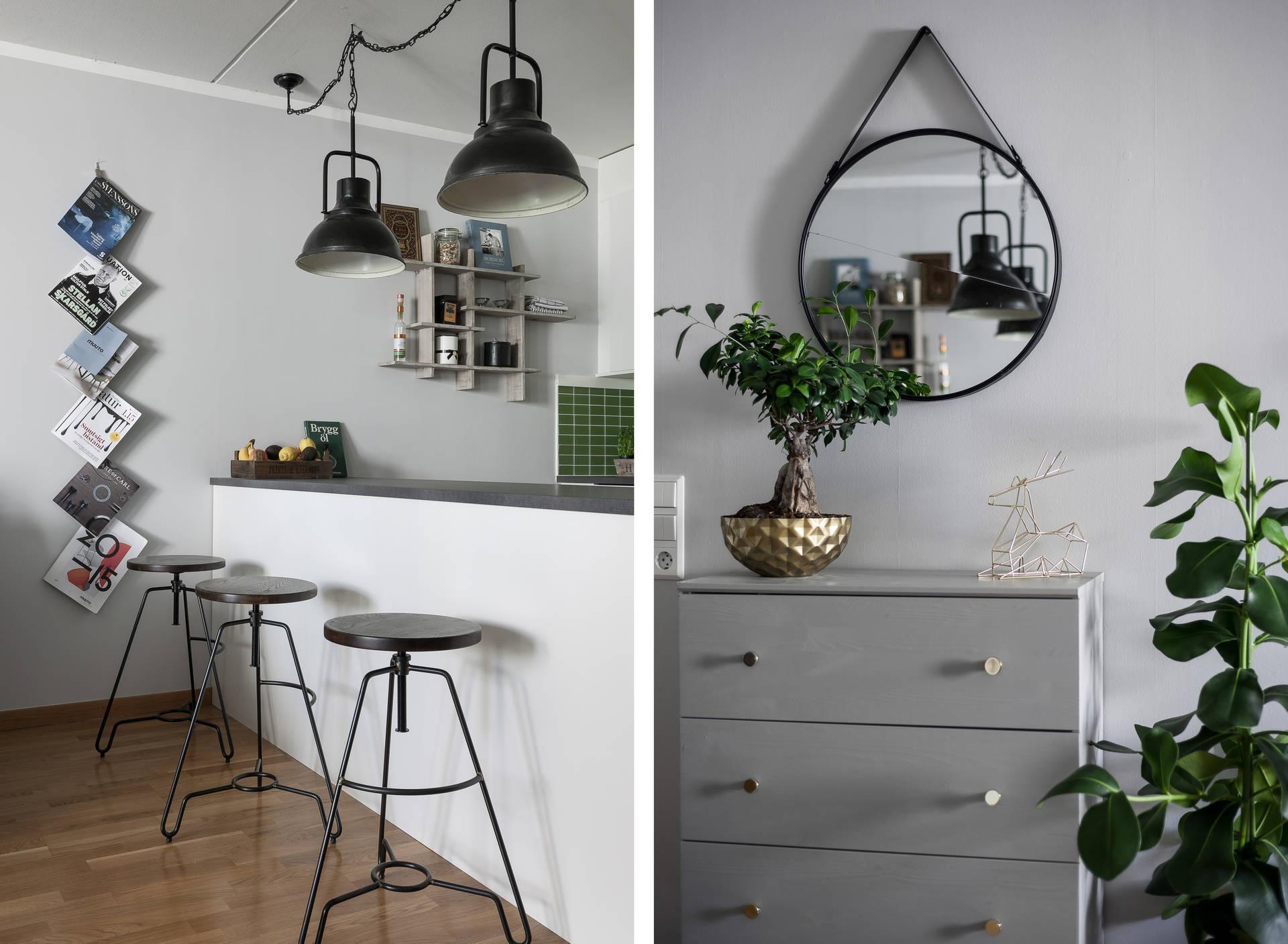 комод зеркало кухня лампы барные стулья