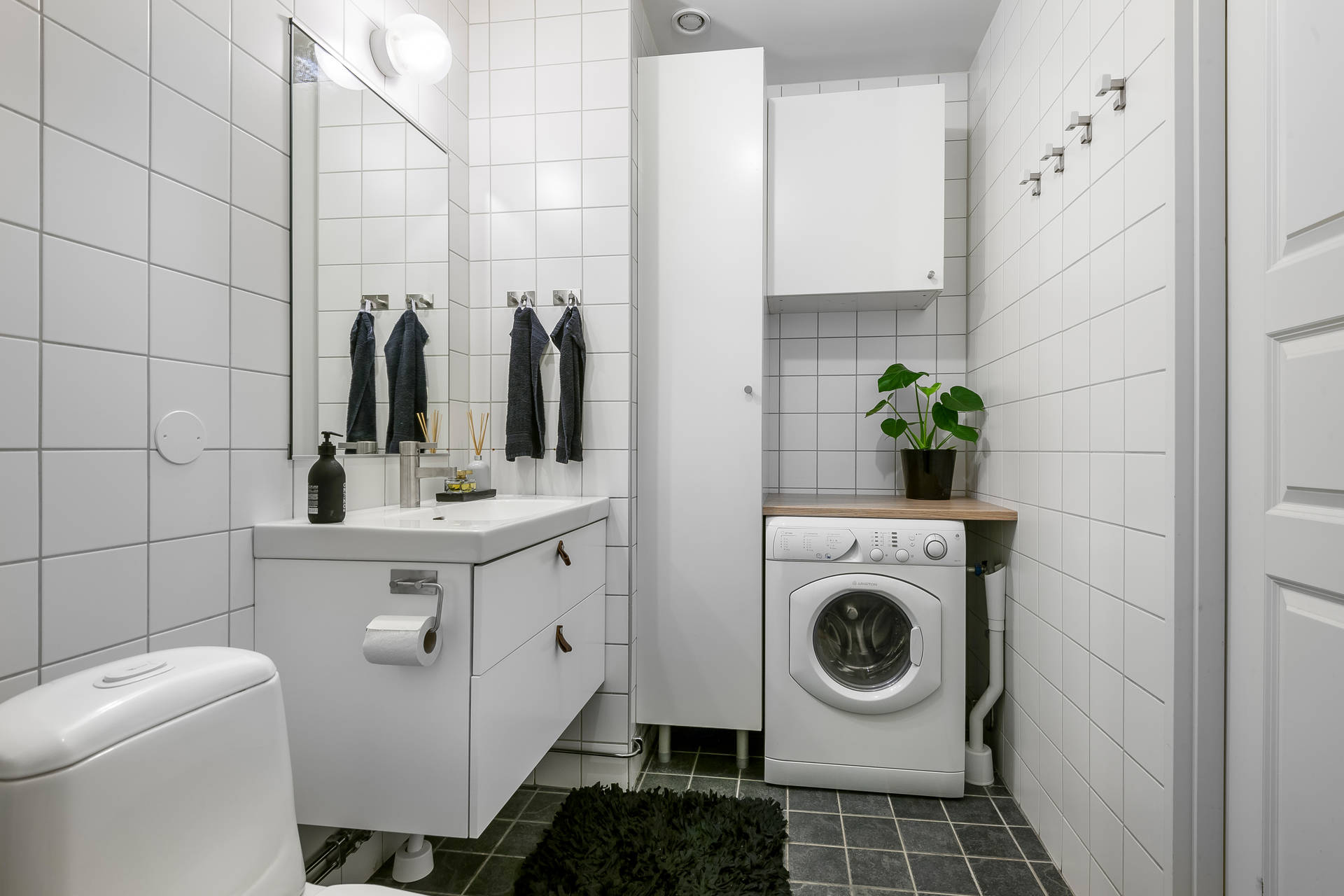 санузел раковина шкаф стиральная машина