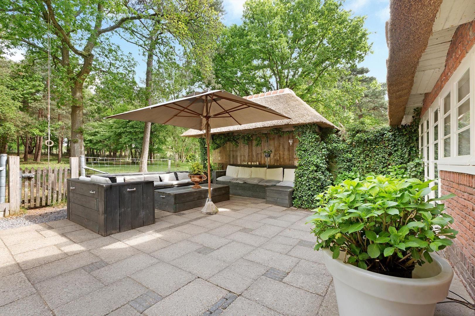 терраса уличная садовая мебель зонт