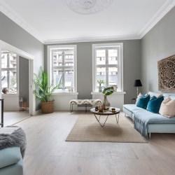 гостиная диван столик ковер окно