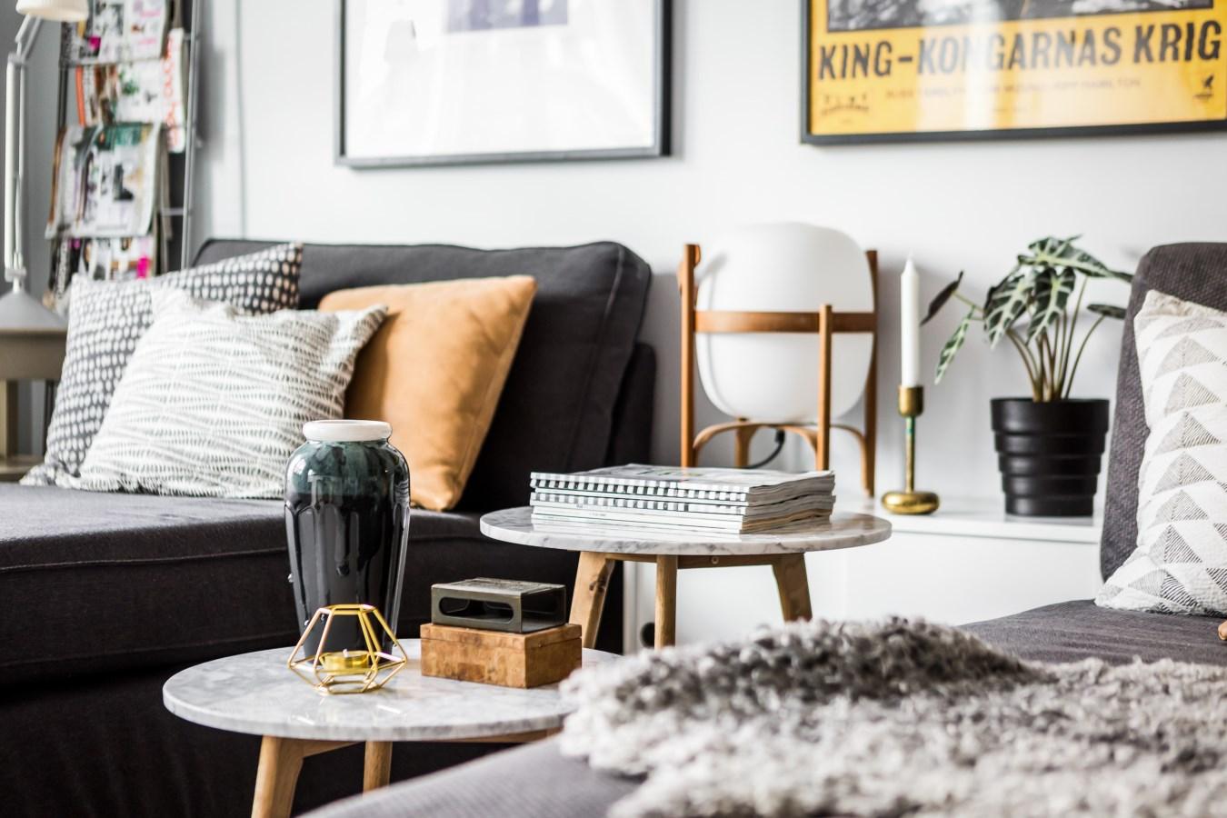 гостиная столик диван