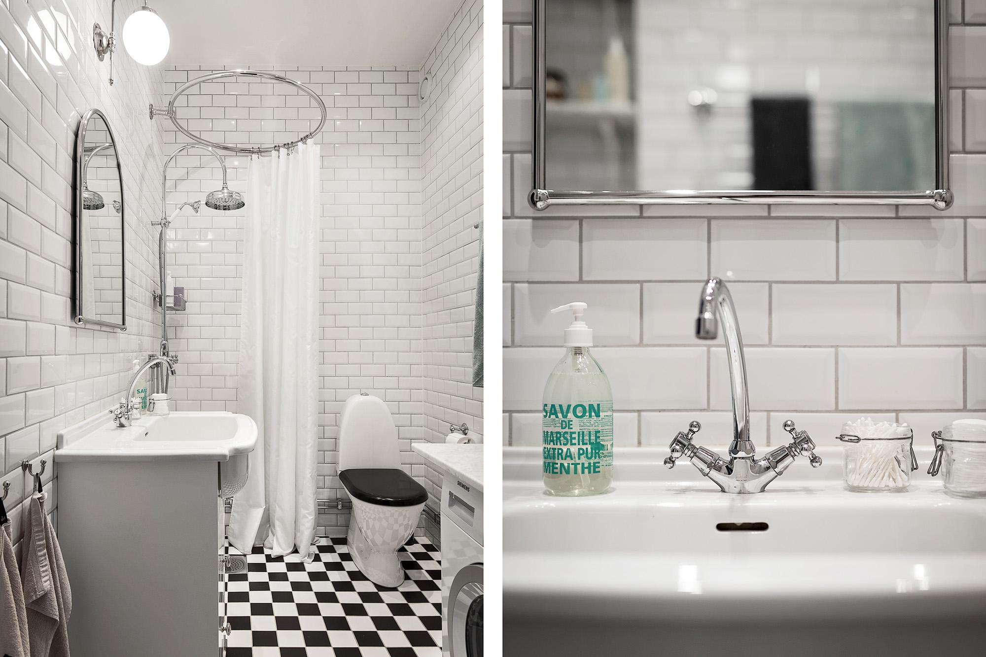 санузел душ раковина зеркало кран плитка