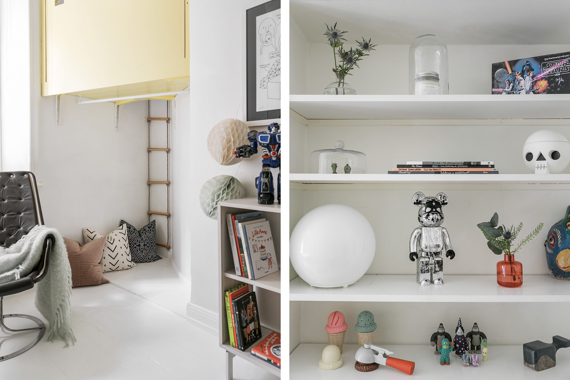 детская комната домик веревочная лестница