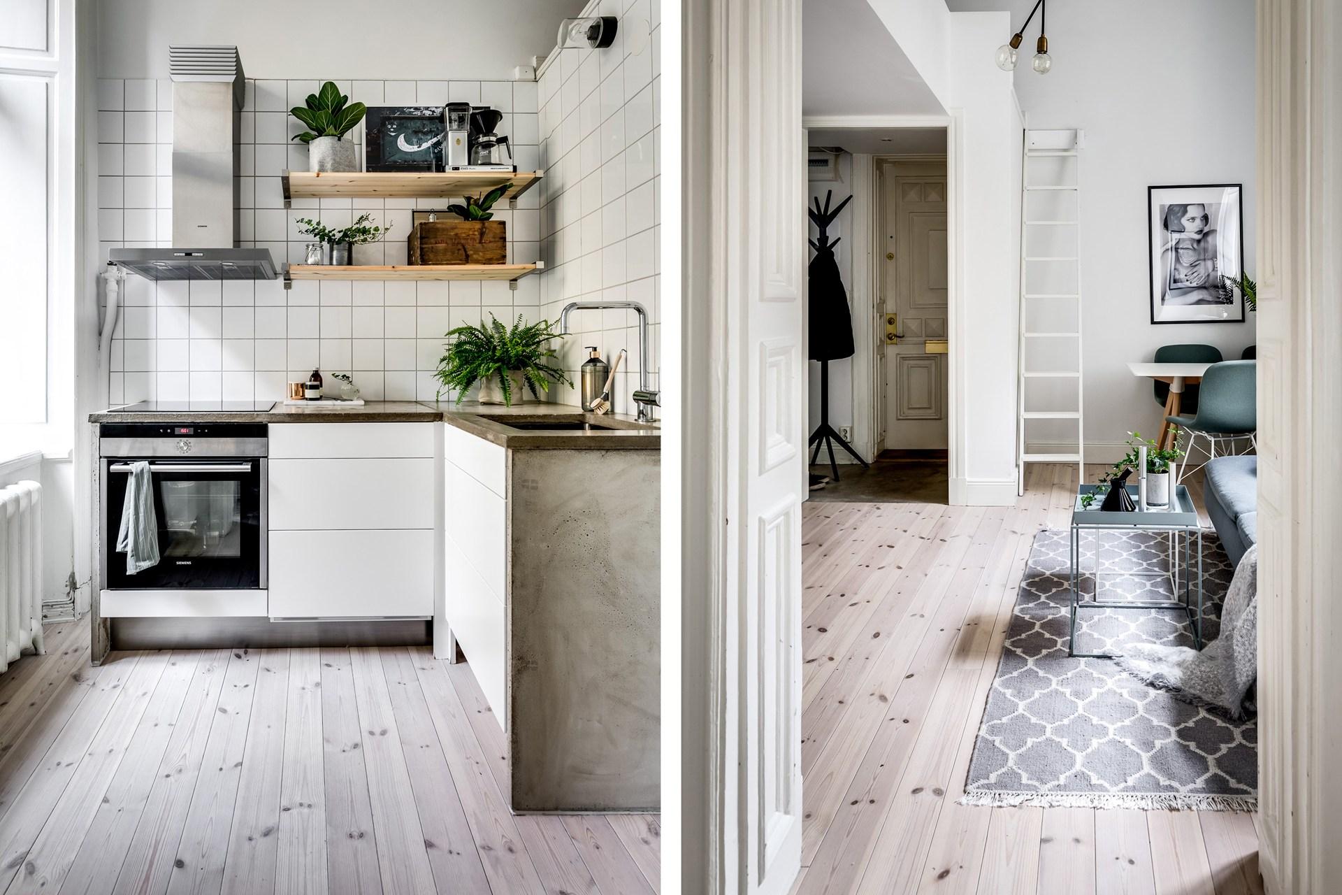 кухня деревянный пол