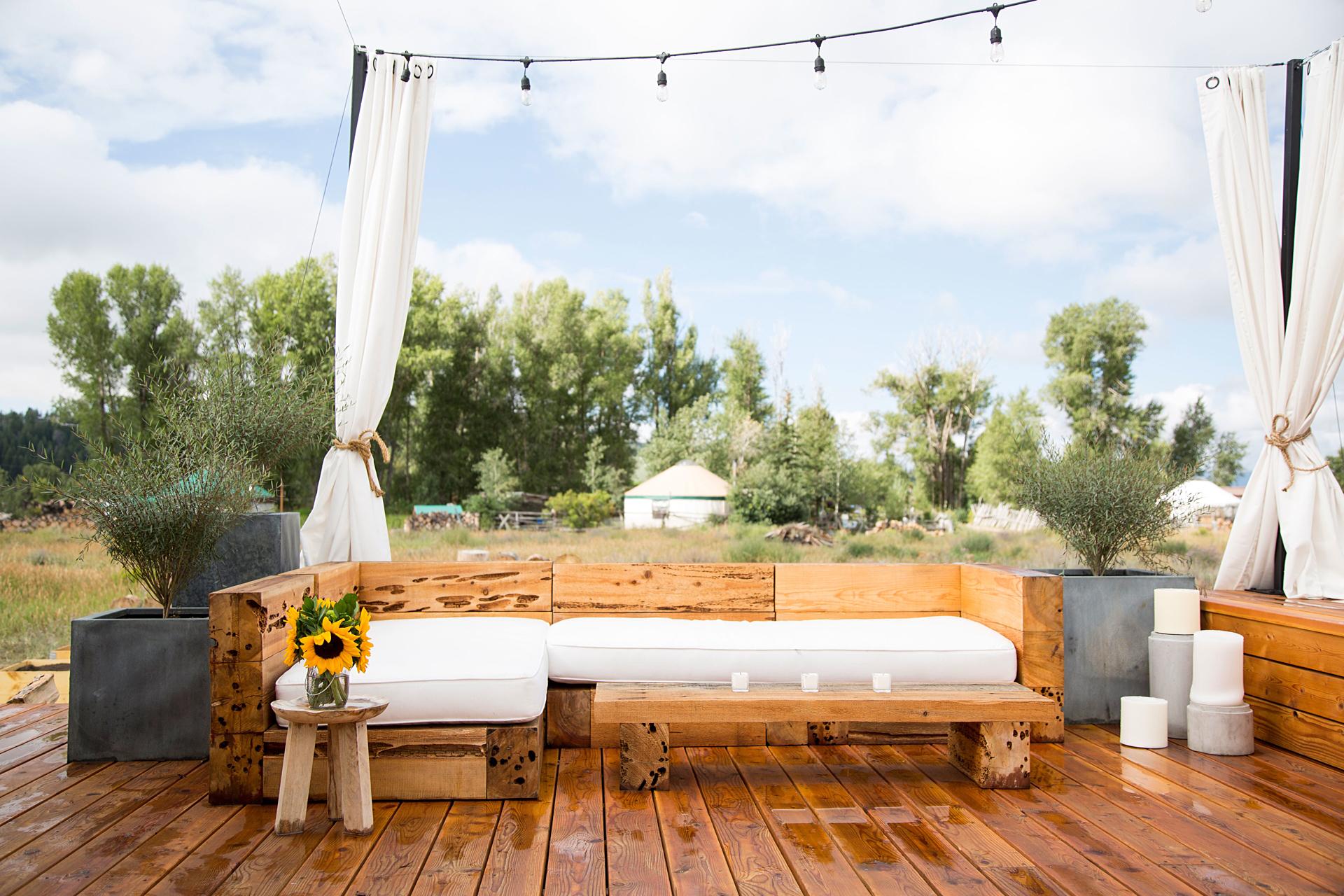 терраса диван уличная мебель