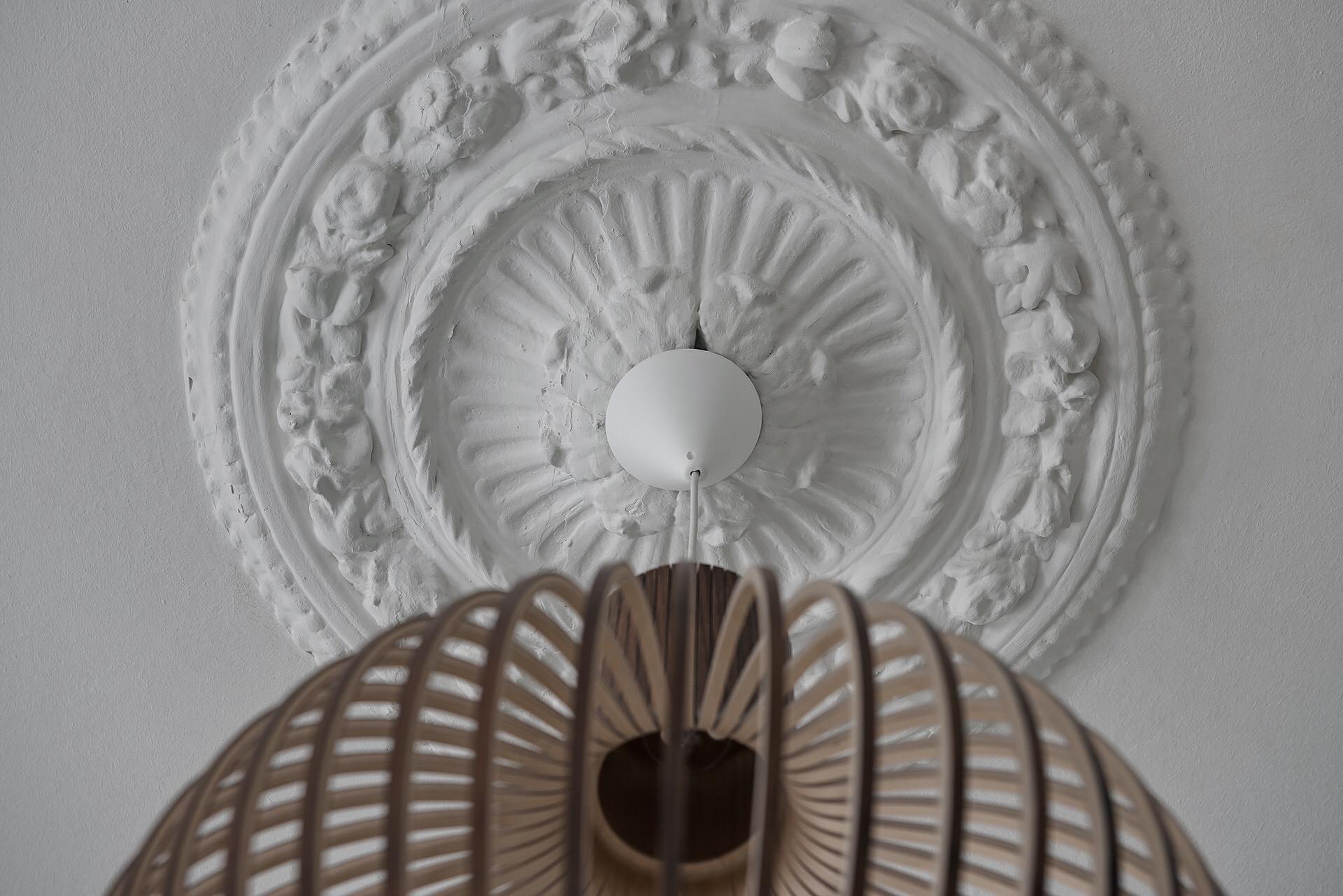 потолок лепнина розетка люстра
