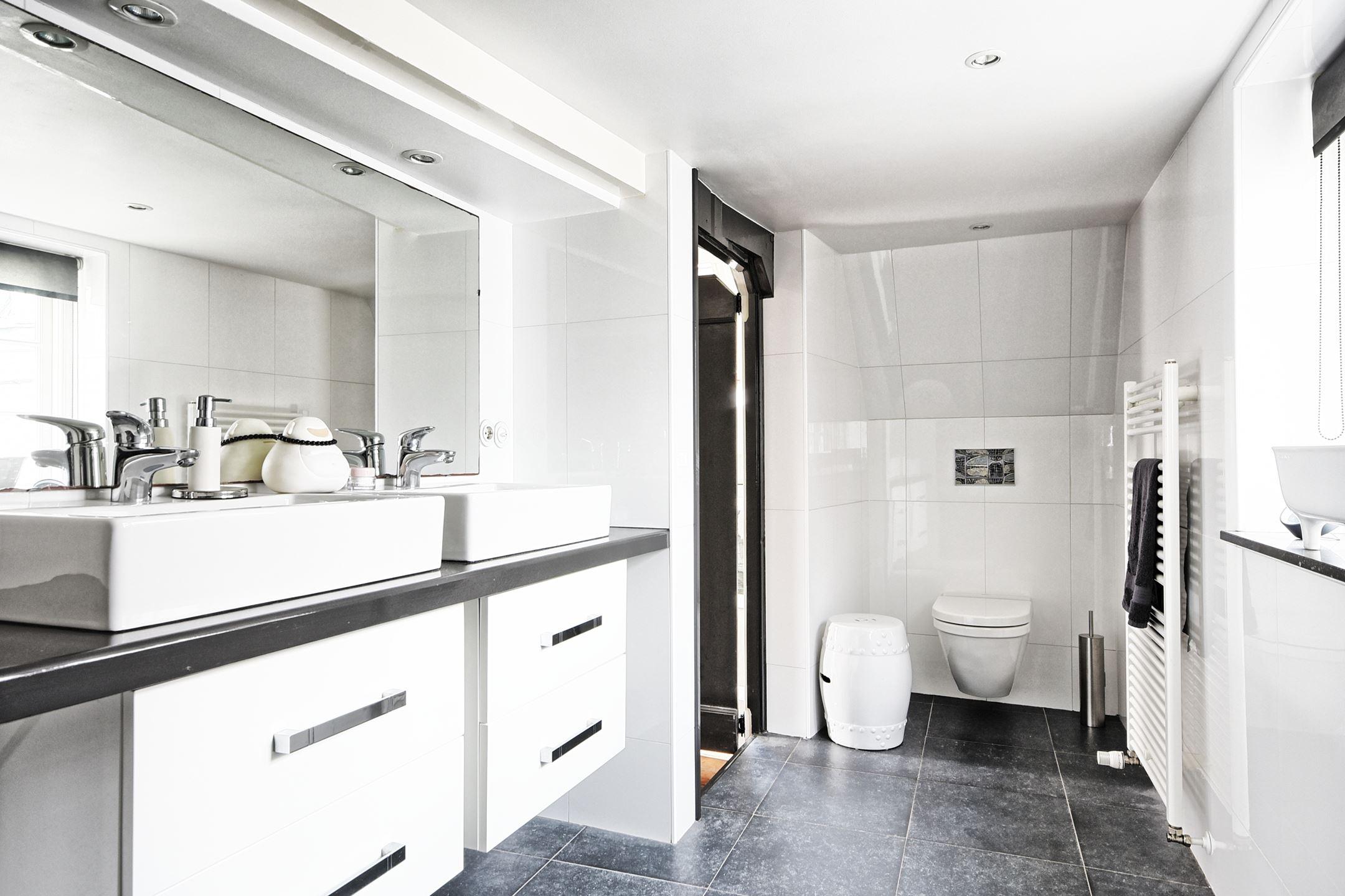 ванная комната душ двойная раковина