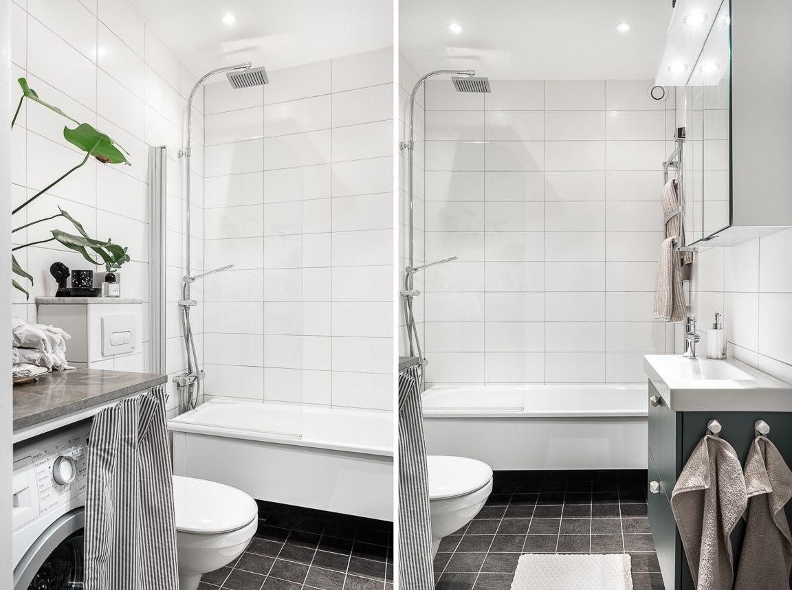 санузел ванная комната стиральная машина узкая раковина смеситель зеркальный подвесной шкаф