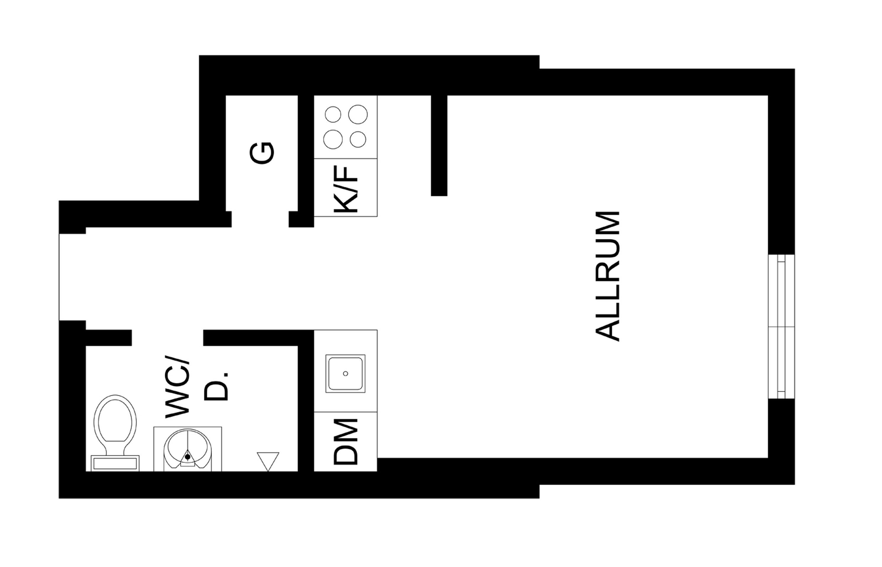 планировка однокомнатной квартиры студии