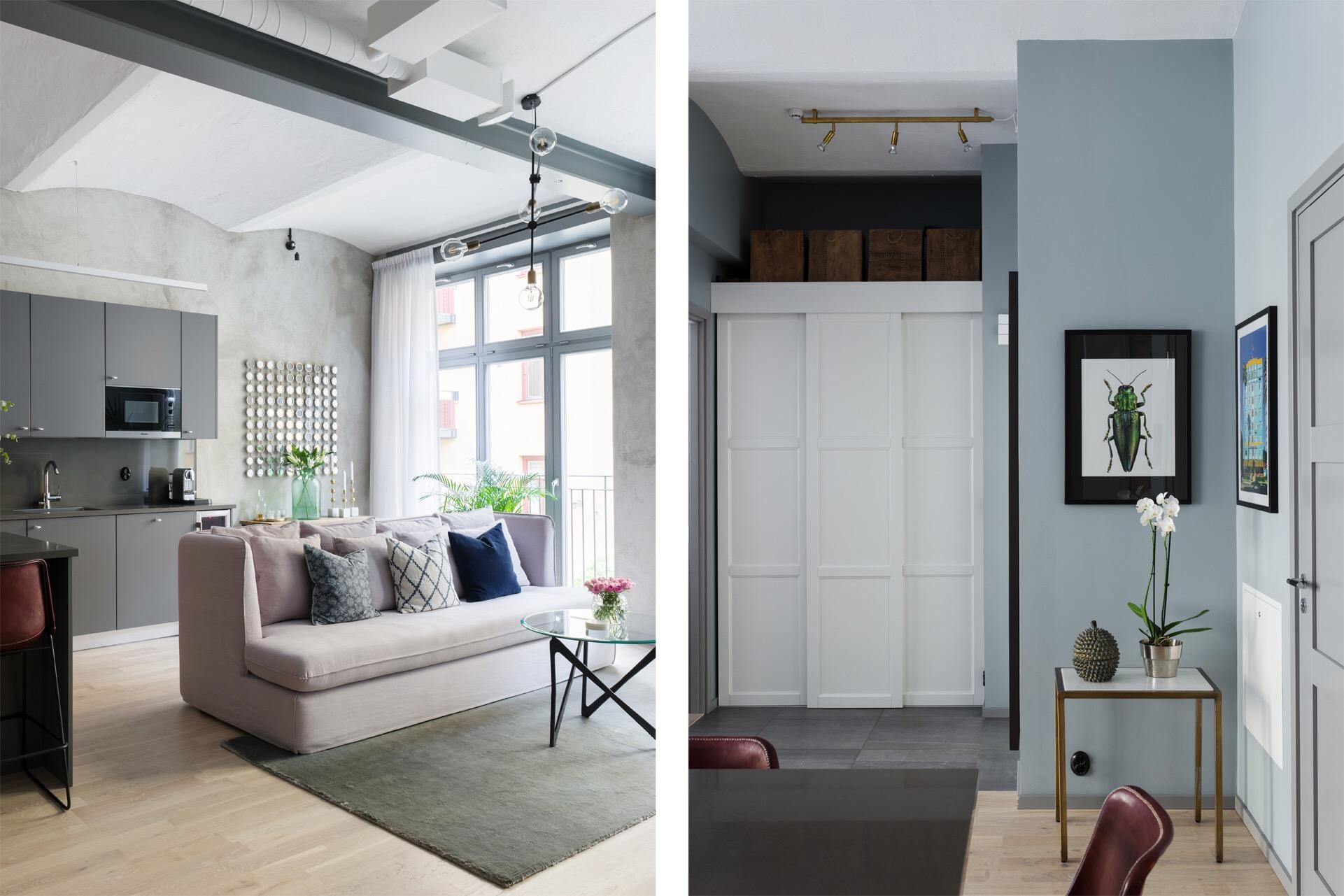 коридор встроенный шкаф раздвижные белые двери