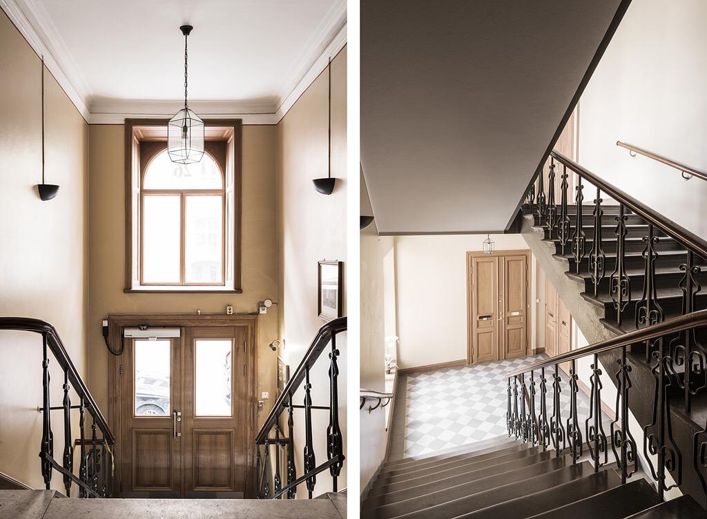 парадная подъезд лестница перила ступени двери