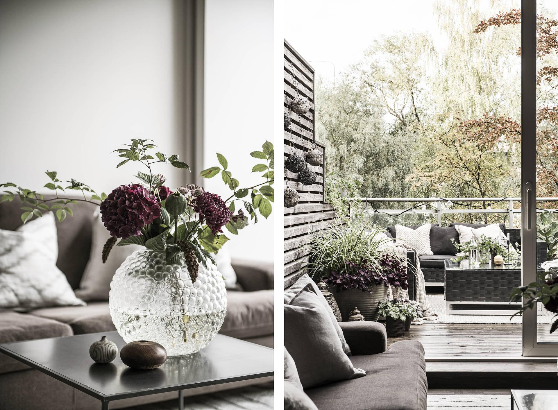 ваза букет гостиная балкон