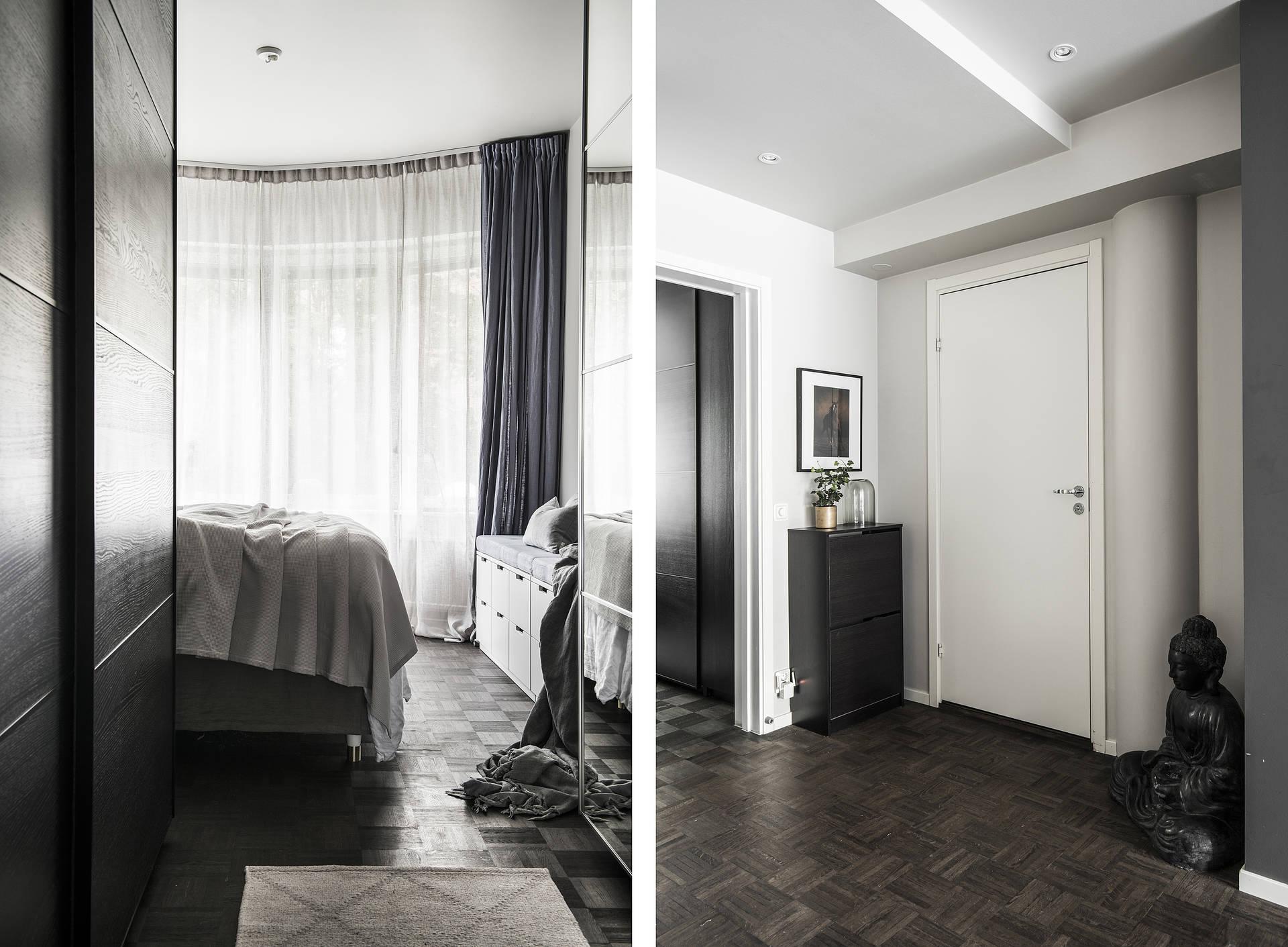 спальня коридор входная дверь комод