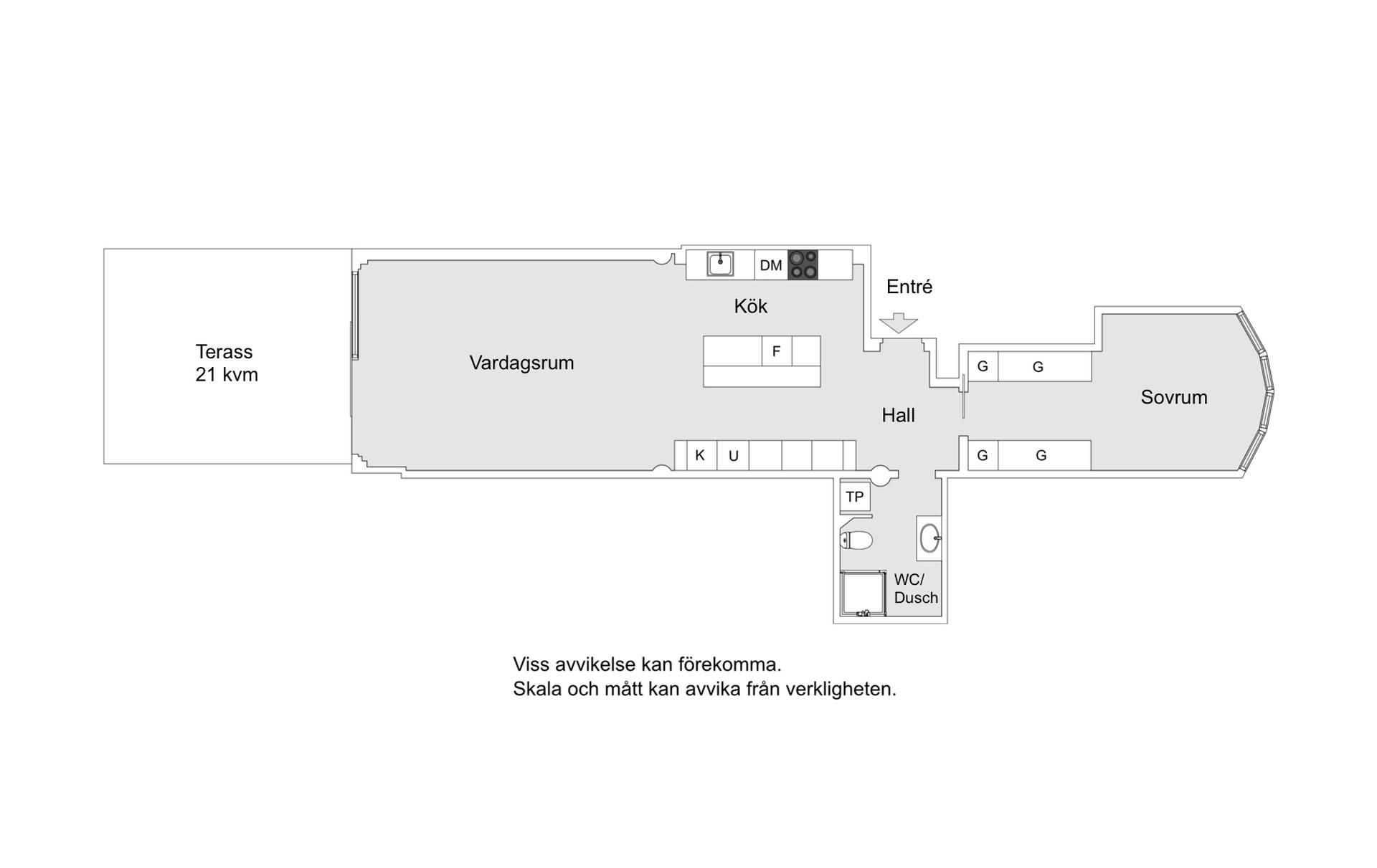 планировка квартиры с террасой
