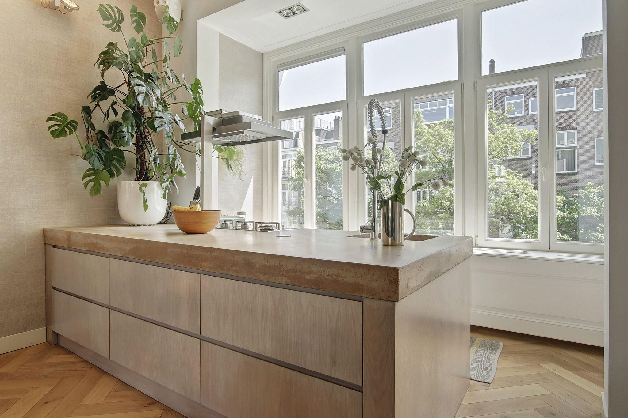 кухонный остров бетонная столешница