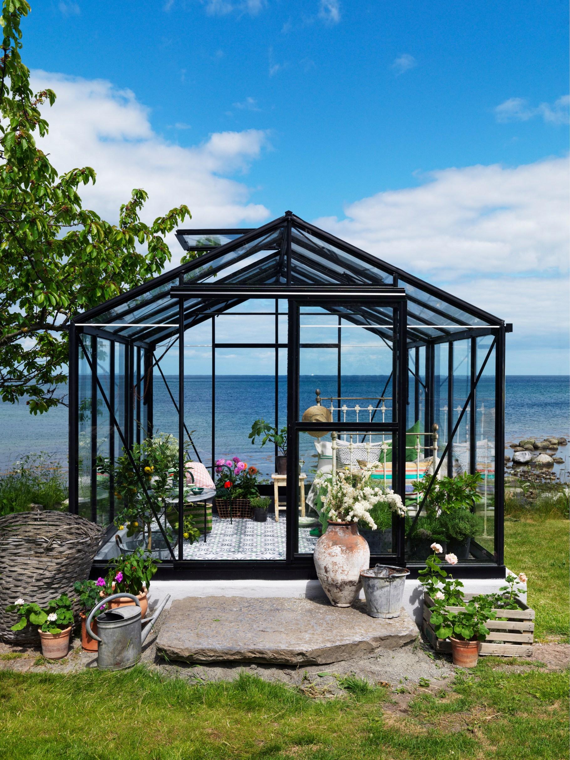 Växthus medelhavsväxthus styling sommar hav trädgård Ulrika Grönlund medelhav