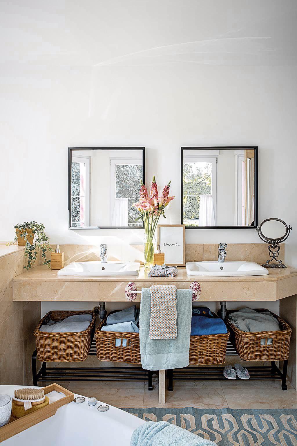 ванная комната двойная раковина