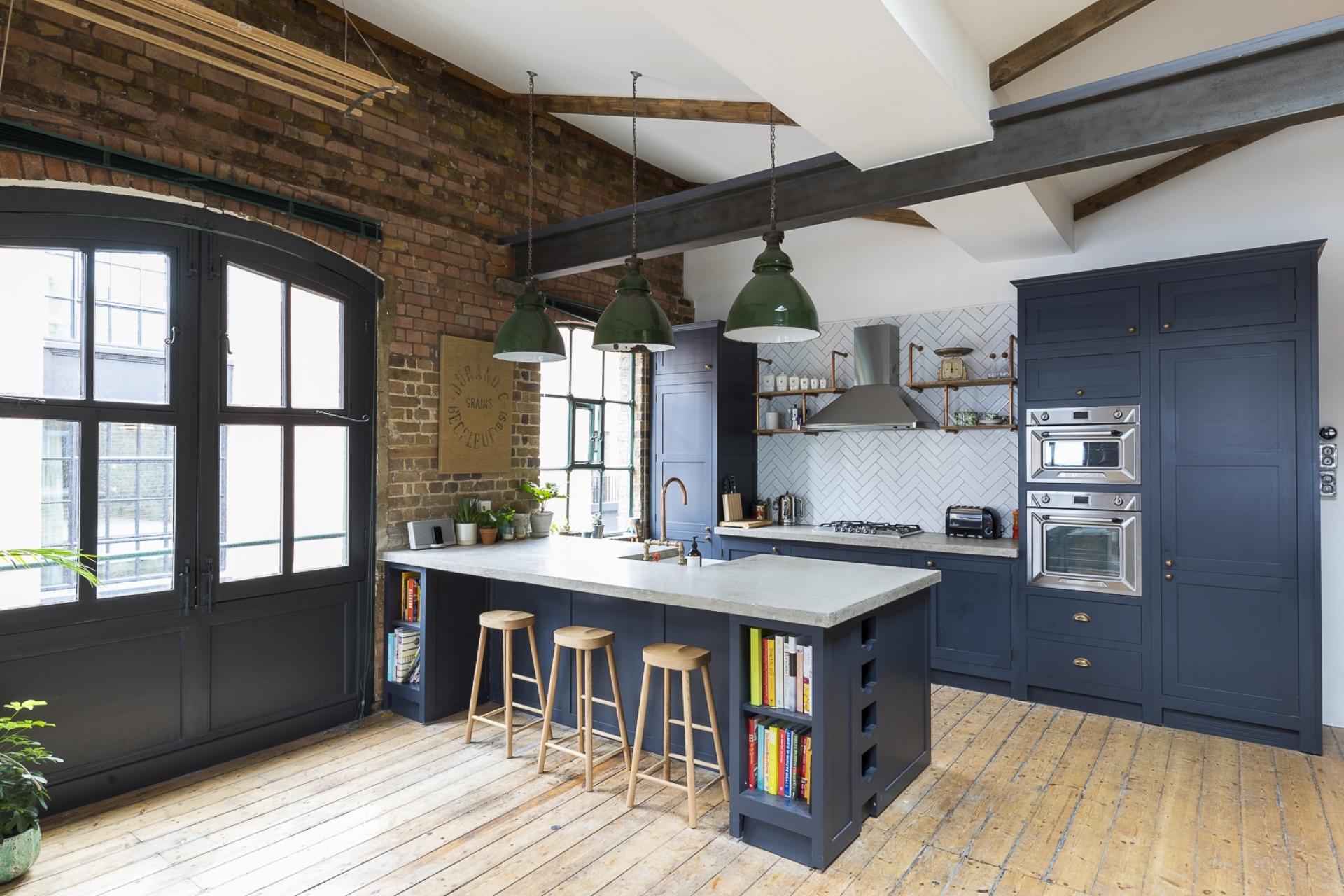 кухня мебель остров окна