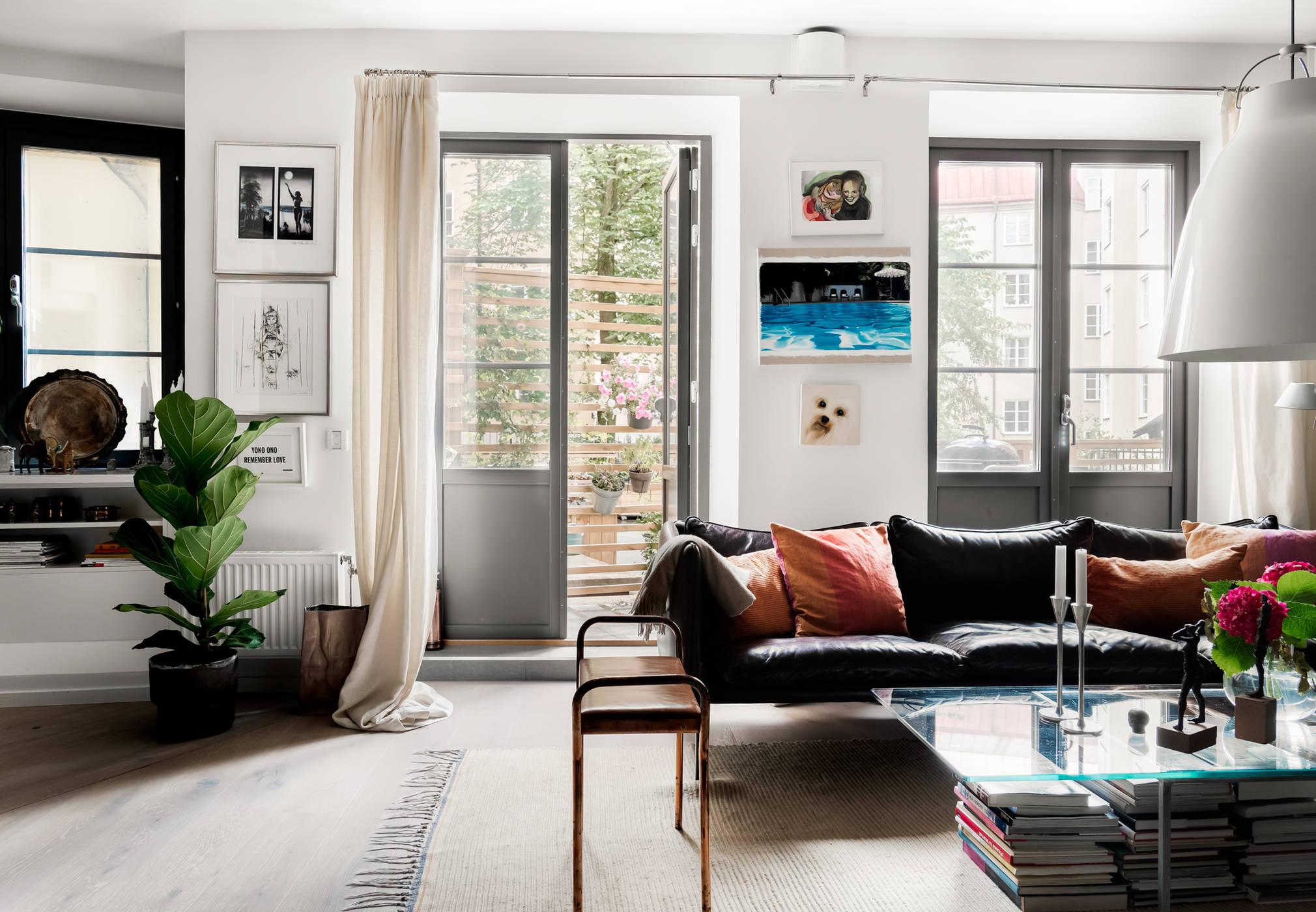гостиная балкон