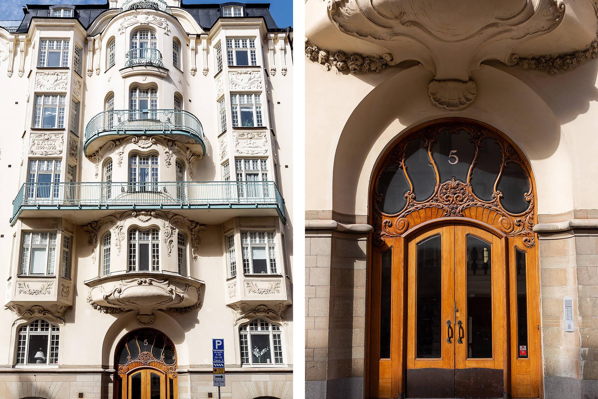 фасад лепнина балконы