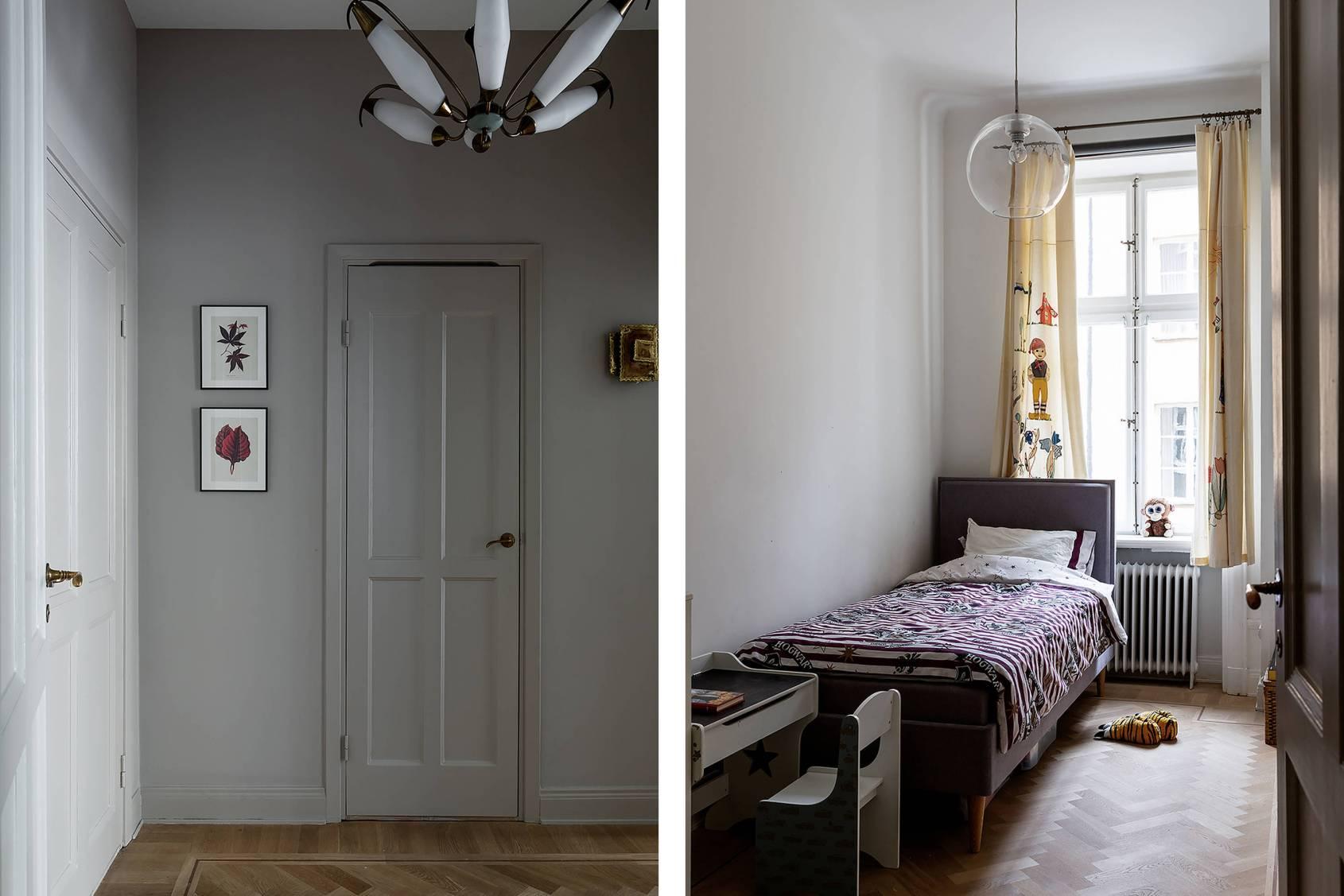 коридор детская комната