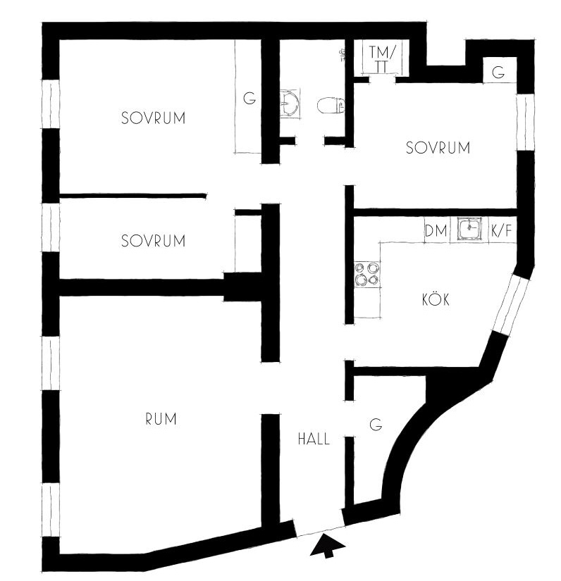планировка квартиры 94 квм
