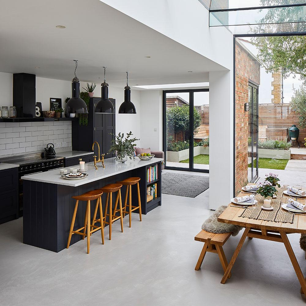 кухня кухонный остров стол стулья