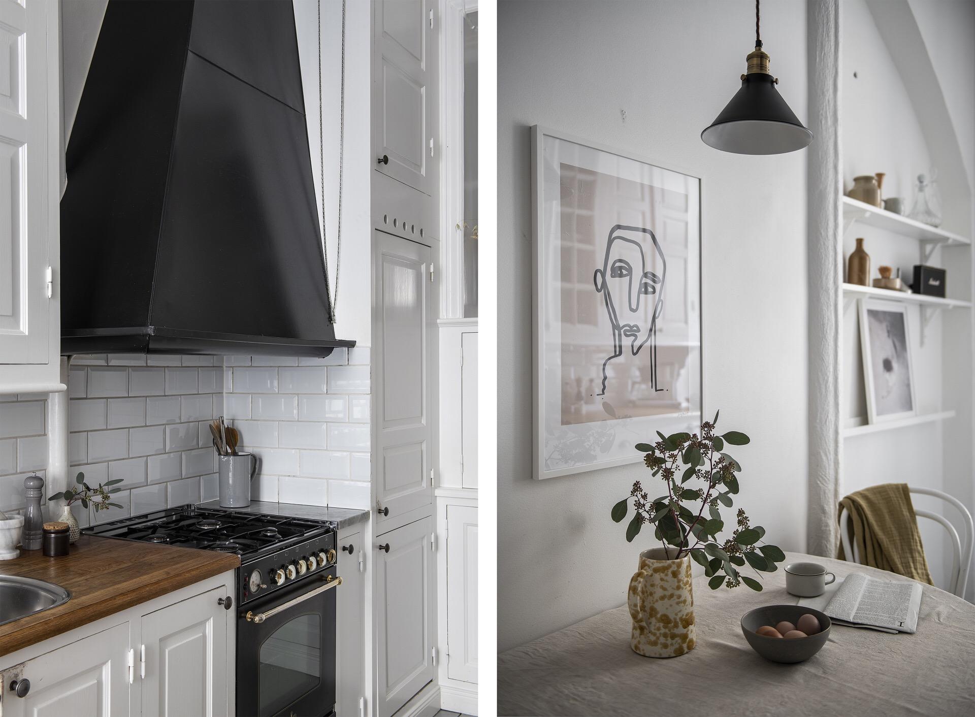 черная кухонная плита вытяжка