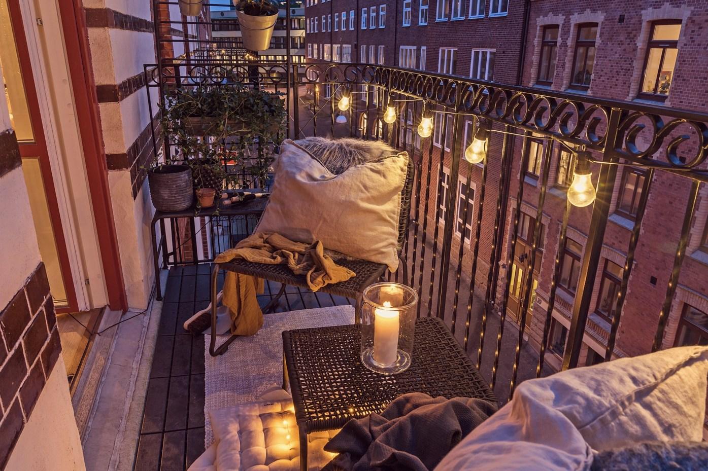 квартира 40 квм гирлянда балкон
