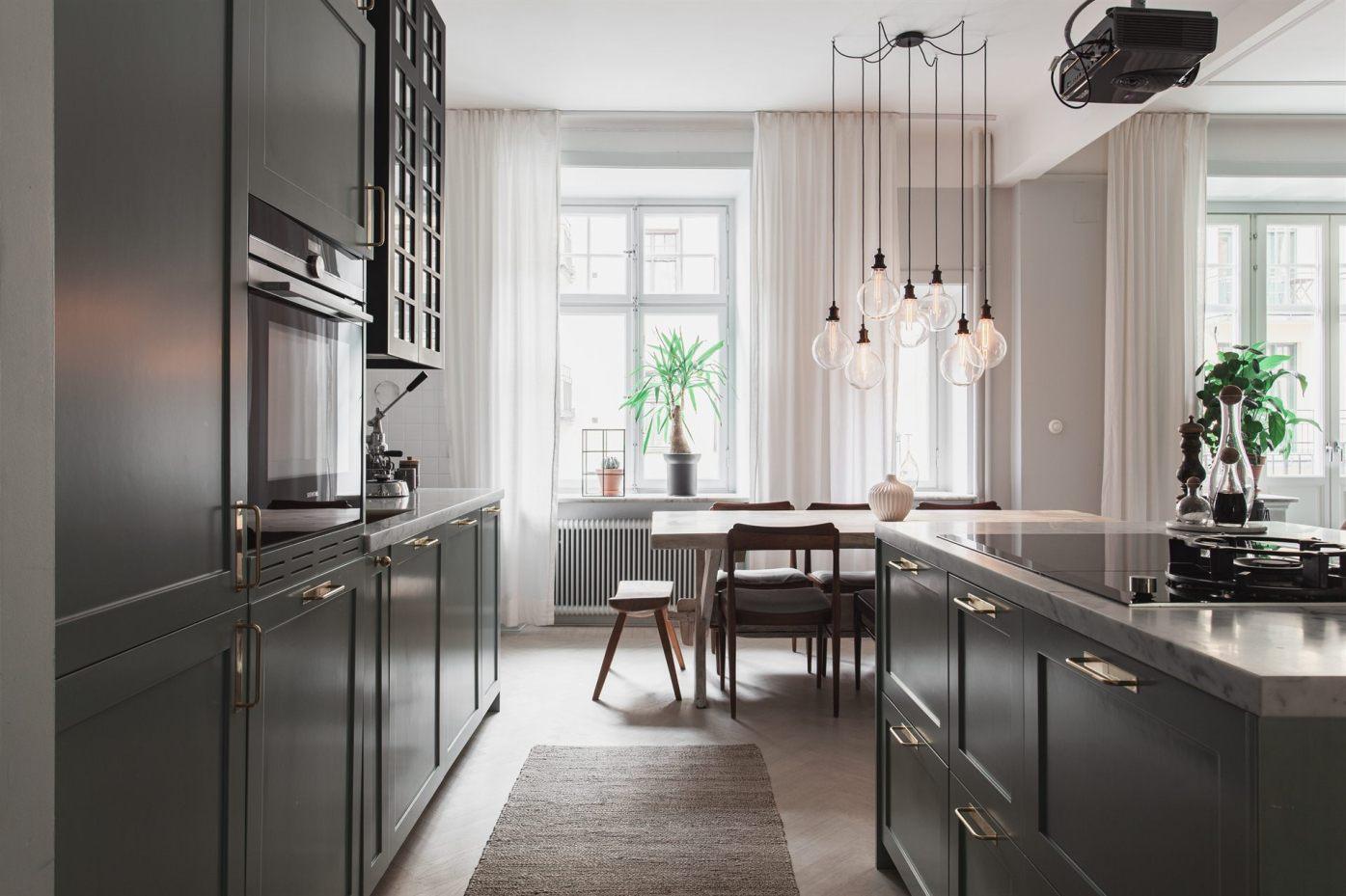 квартира 67 квм кухня столовая