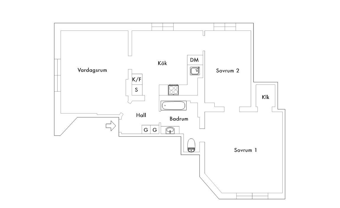 floor plan 75sqm