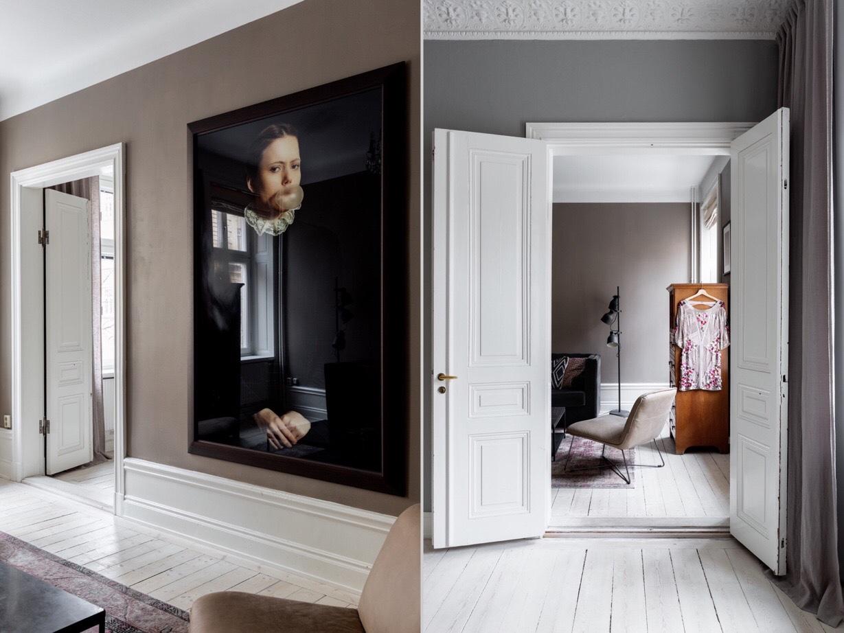 white doors baseboards