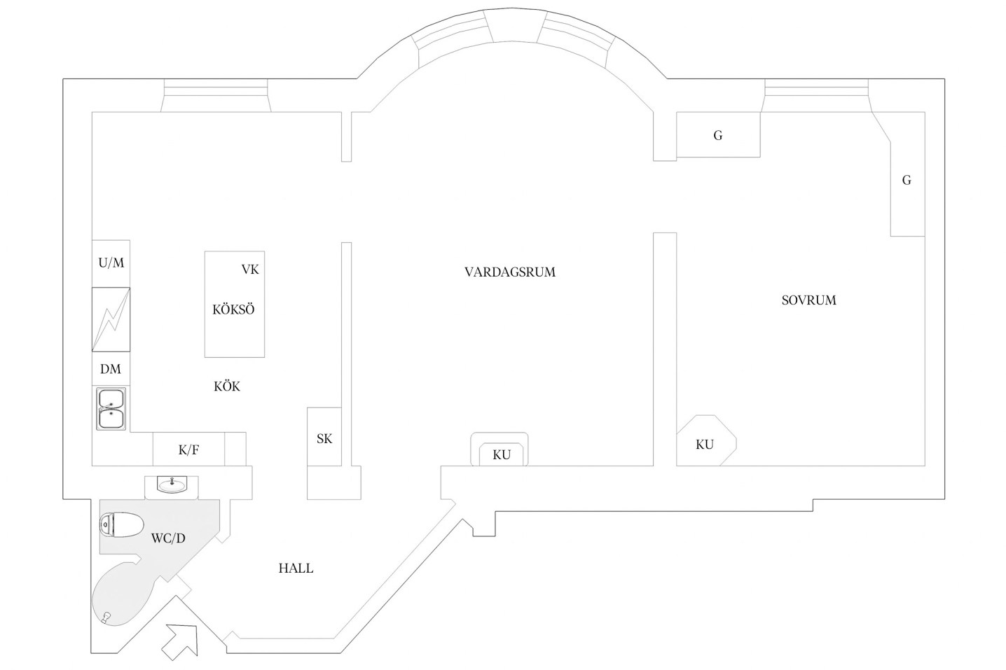 80 sqm apartment floor plan