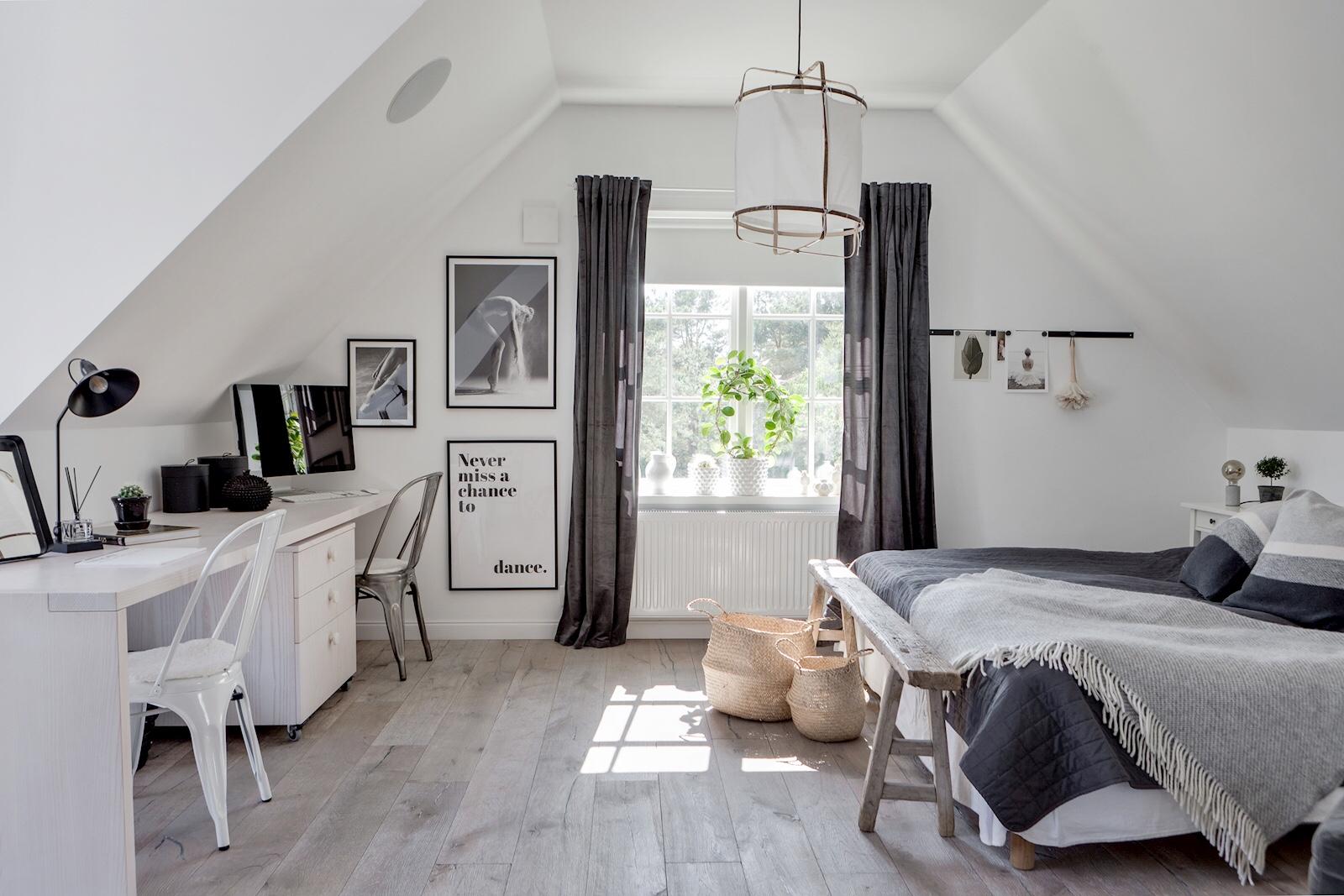 attic bedroom desk