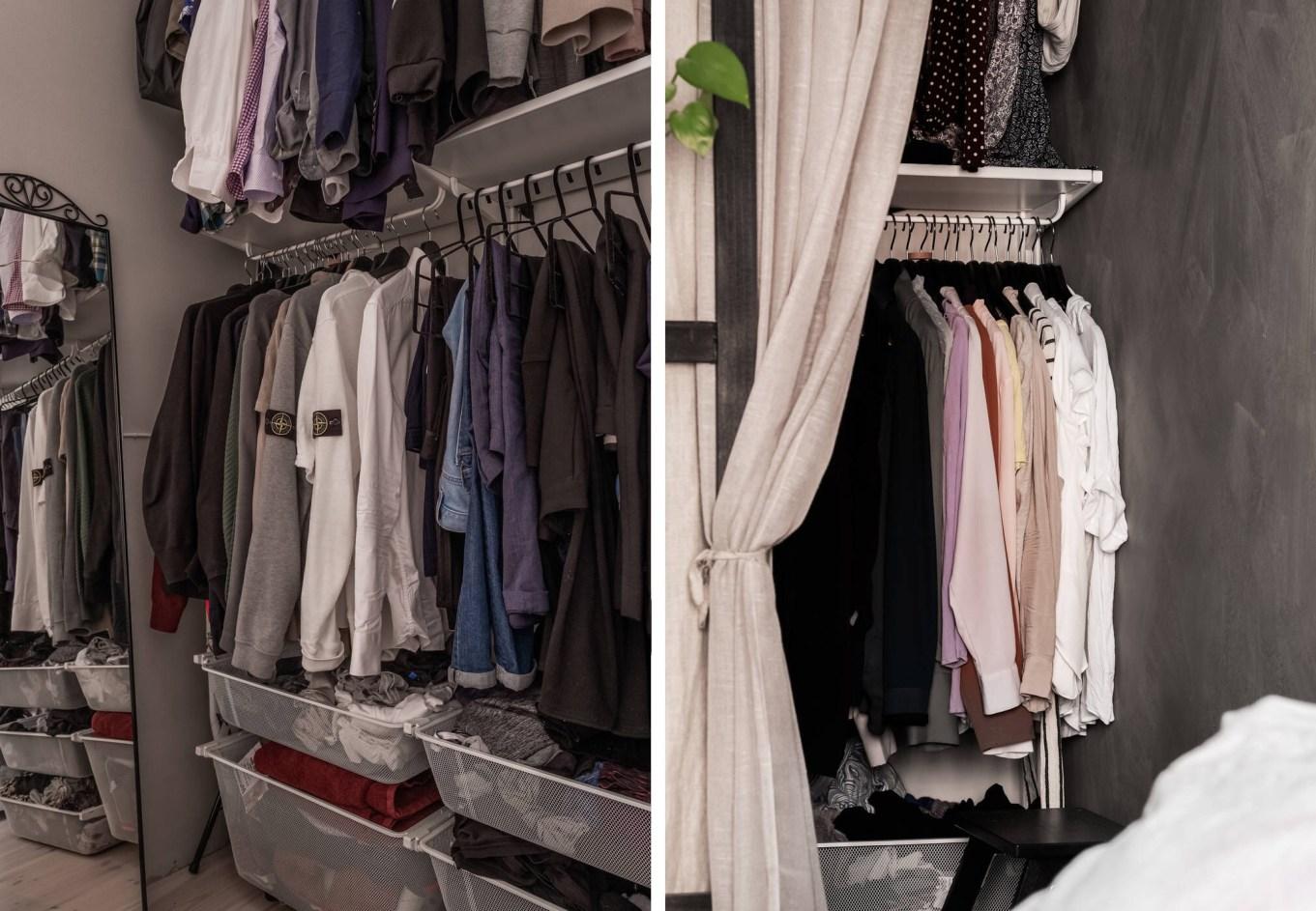 bedroom wardrobe curtain