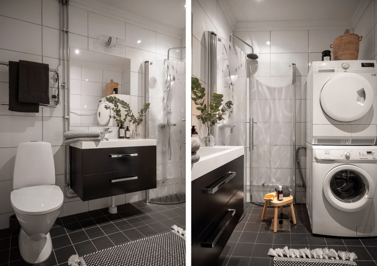 bathroom shower laundry