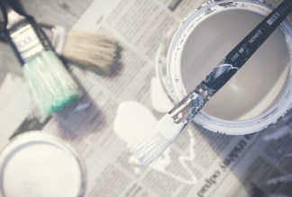 paint-brushes-bucket-paint-can-white