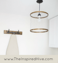 Kitchen DIY Chicken Wire Light Fixture - Decor10 Blog