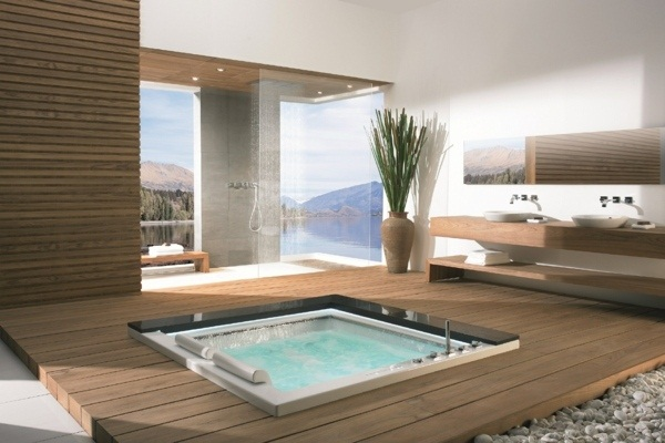 25 hot tub styles for inside and outdoors Make certain spa