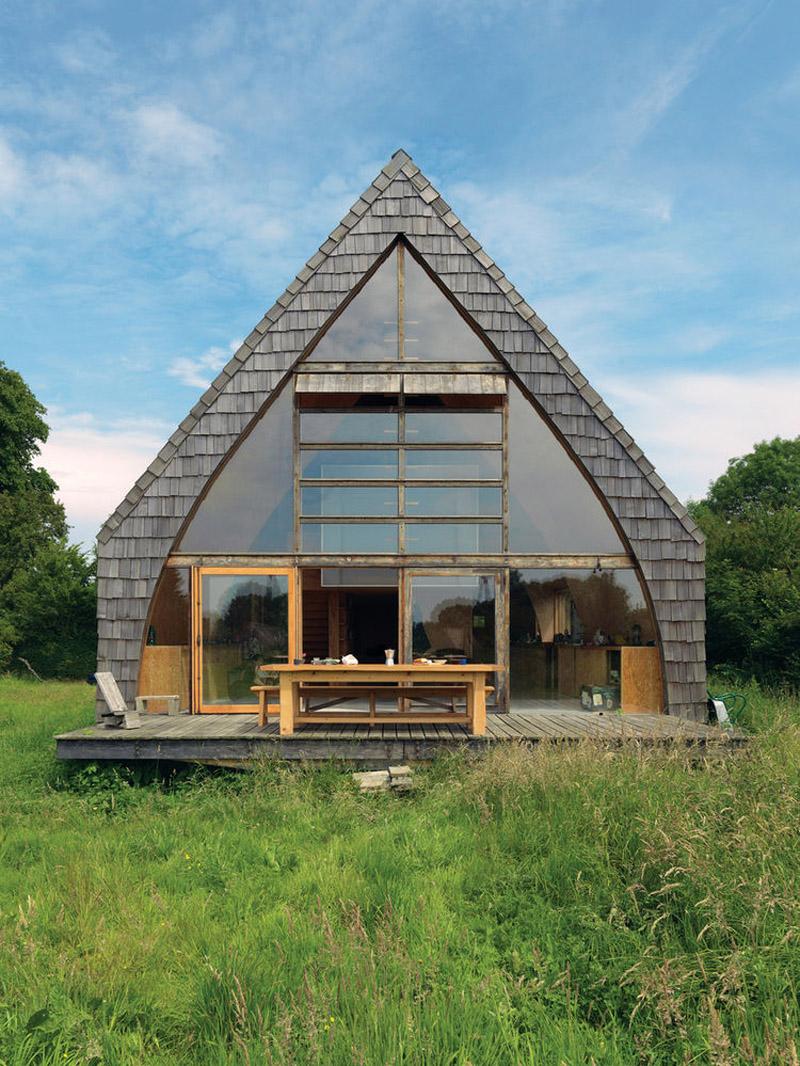 thirty Wonderful Small Aframe Homes  Decor10 Blog