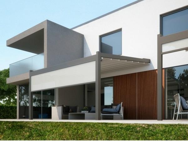 Aluminum awning ideas modern sunscreen roof