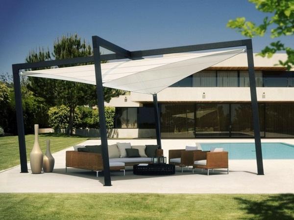 Modern awning design sunscreen roof