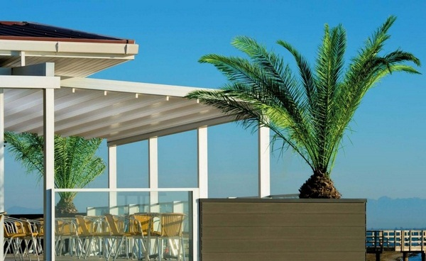 Sunscreen house aluminum fabric covering roof