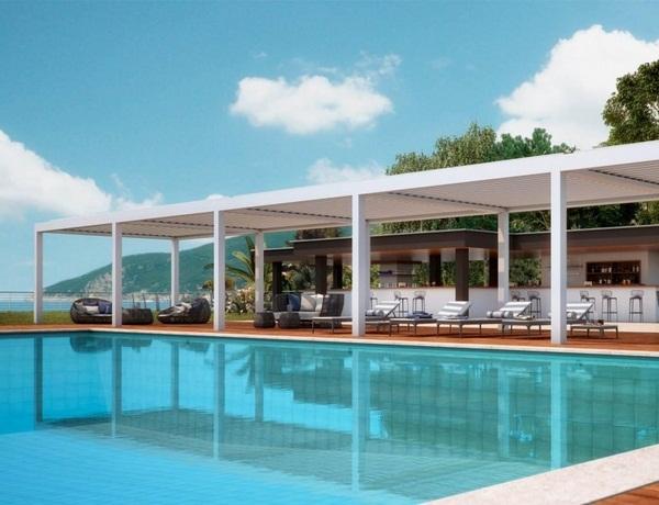 Sunscreen roof freestanding Pergola