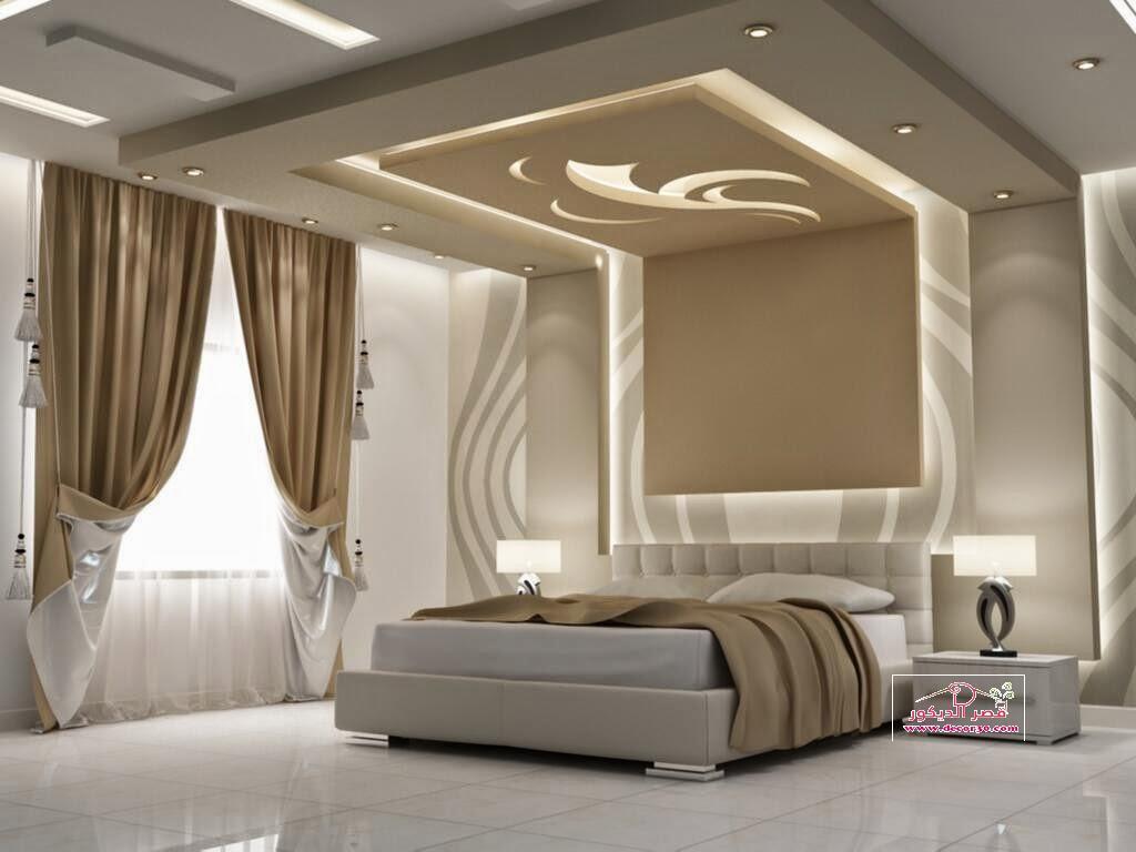 اسقف جبس غرف نوم رئيسية Gypsum Ceiling Master Bedroom قصر الديكور