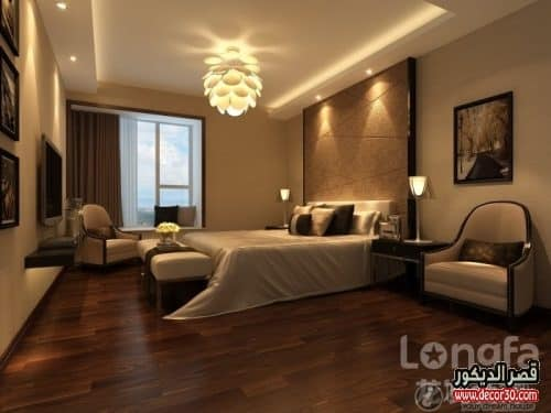 Gypsum ceiling for soft bedroom