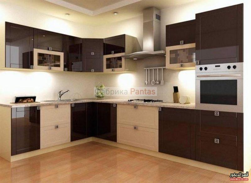 الوان مطابخ الوميتال بني Kitchen Colors Alumital Brown