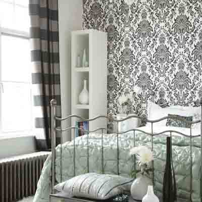 black and white wallpaper ideas for living room oriental furniture bedroom in gray one wall decoration wallpapers modern decorating