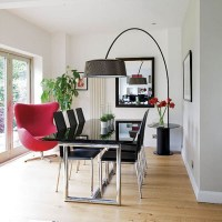 Black and White Rooms with Splashes of Red Color, Black ...
