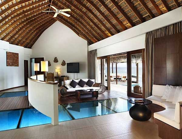 tropical living room decorating ideas small fireplace home inspired by maldives w retreat resort brown and white decor